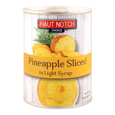 Haut Notch Pineapple Sliced, In Light Syrup, 565g