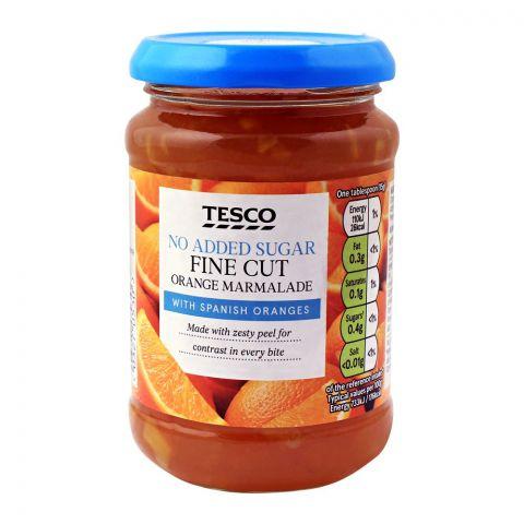 Tesco Fine Cut Orange Marmalade, No Added Sugar, 340g