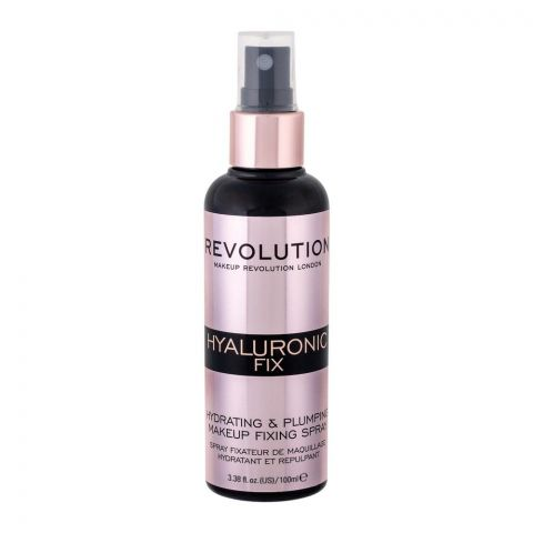 Makeup Revolution Hyaluronic Fix Hydrating & Plumping Makeup Fixing Spray, 100ml