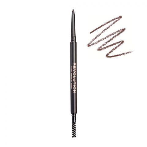 Makeup Revolution Precise Brow Pencil, Medium Brown