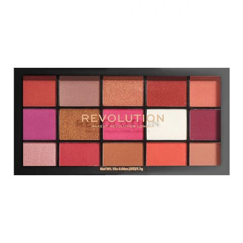 Makeup Revolution Reloaded Eyeshadow Palette, Red Alert