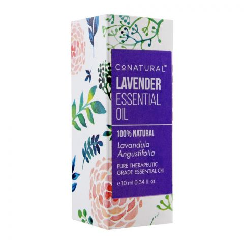 CoNatural Lavender Essential Oil, Therapeutic Grade Essential Oil, 10ml
