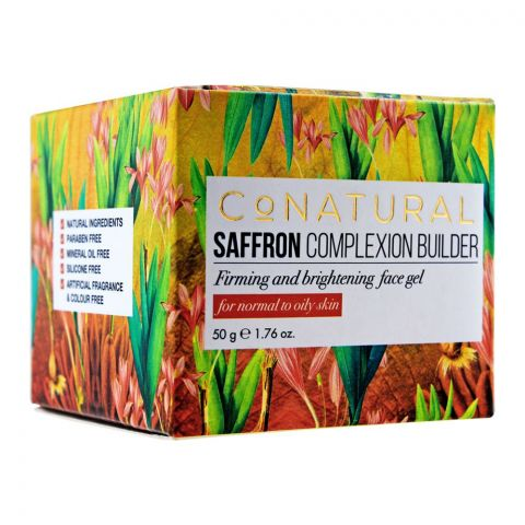 CoNatural Saffron Complexion Builder, Firming & Brightening Gel, For Normal to Oily Skin, 50ml