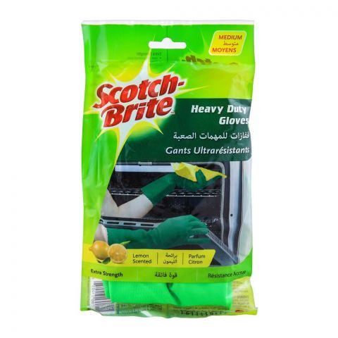 Scotch Brite Heavy Duty Hand Gloves, Medium