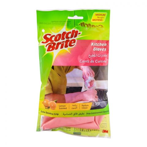 Scotch Brite Kitchen Hand Gloves, Medium