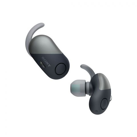 Sony WF-SP700N Noise Cancelling Truly Wireless Sport Earbuds, Bluetooth, Extra Bass, Black