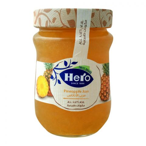 Hero All Natural Pineapple Jam, 350gm