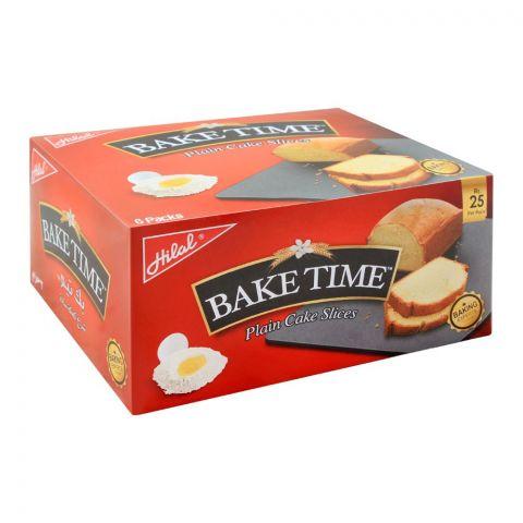 Hilal Bake Time Plain Cake Slice, 6 Packs, 40g