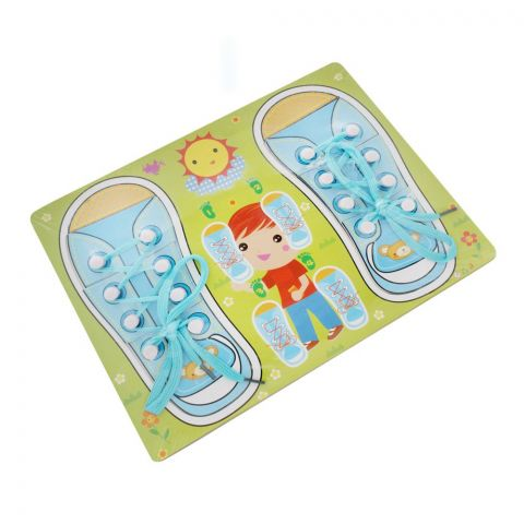 Live Long Wooden Laces Learning Board Green, 2305-15