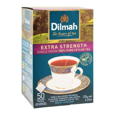 Dilmah Extra Strength 100% Pure Ceylon Tea, 50 Tea Bags