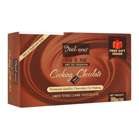 Italiano Cooking Chocolate, Sweetened Dark Chocolate, 220g