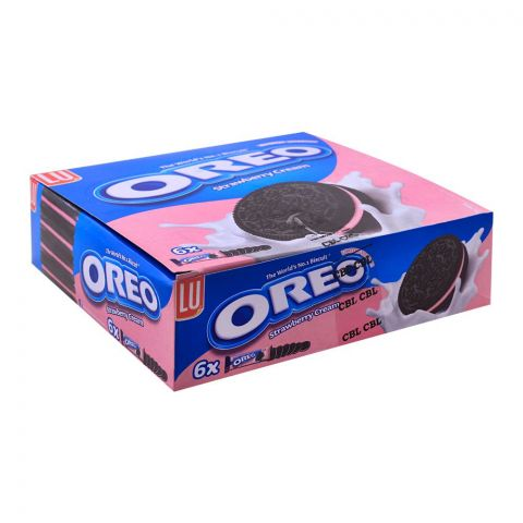 Oreo Strawberry Cream Biscuits, 57g, 6 Packs (6 Biscuits Per Pack)