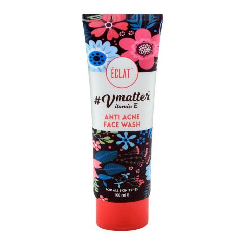 Eclat Vmatter Vitamin E Anti Acne Face Wash, For All Skin Types, 100ml