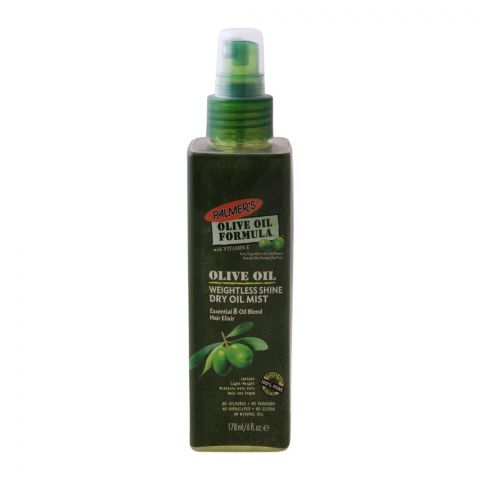 Palmer's Olive Oil Weightless Shine Dry Oil Mist, With Vitamin E, 178ml