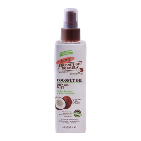 Palmer's Coconut Oil Dry Oil Mist, For Dry, Damaged & Colored Hairs, With Vitamin E, 178ml