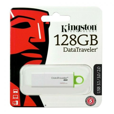 Kingston 128GB USB 3.1/3.0/2.0 Data Traveler G4 USB Drive, DTIG4/128GB