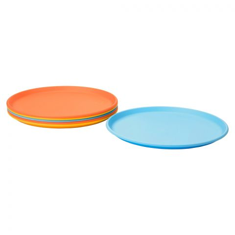 IKEA Sommar 2019 Side Plate, 21 cm, 6 Pieces Set, Mixed Colors, 30419435
