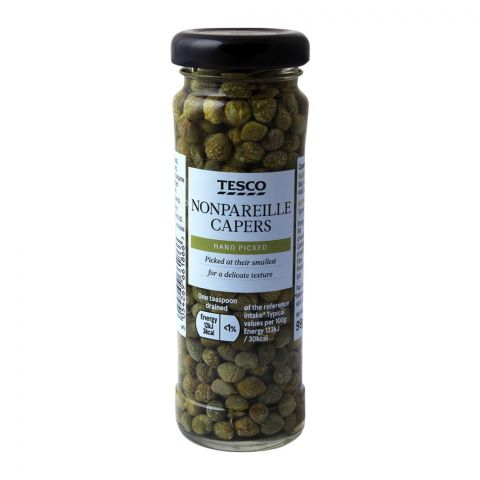 Tesco Nonpareille Capers, Hand Picked, 99g