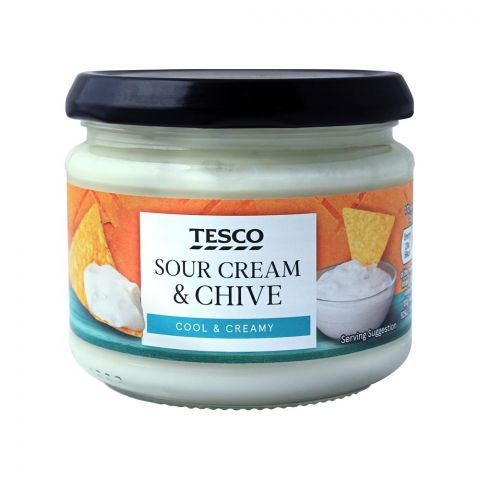 Tesco Sour Cream & Chive Dip, Cool & Creamy, 300g