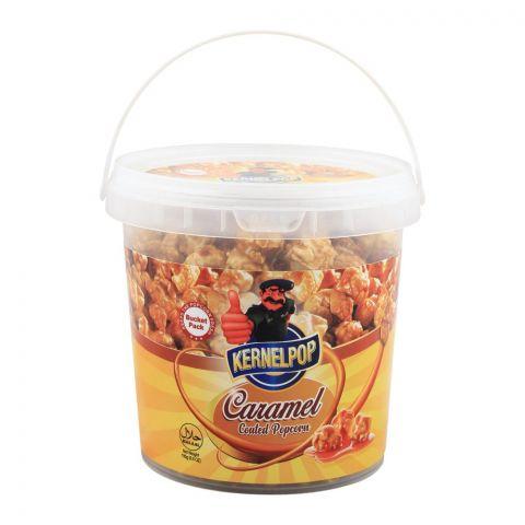 KernelPop Caramel Coated Popcorn, Bucket, 195g