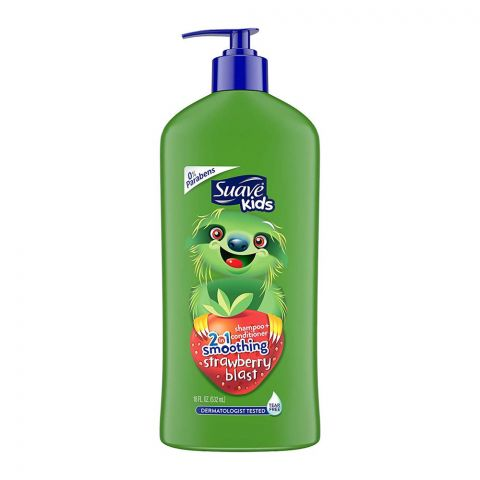 Suave Kids 2-in-1 Smoothing Strawberry Blast Shampoo + Conditioner, 532ml