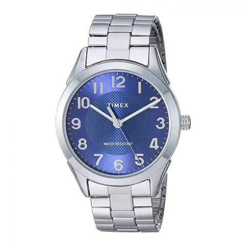 Timex Men's Briarwood Stainless Steel Watch, Blue Dial, TW2T46100