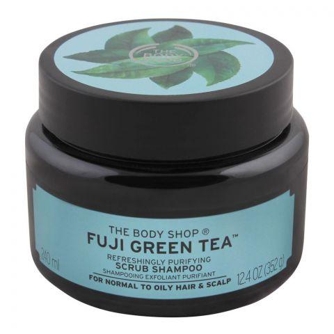 The Body Shop Fuji Green Tea Refreshingly Purifying Scrub Shampoo, For Normal to Oily Hair & Scalp, 240ml