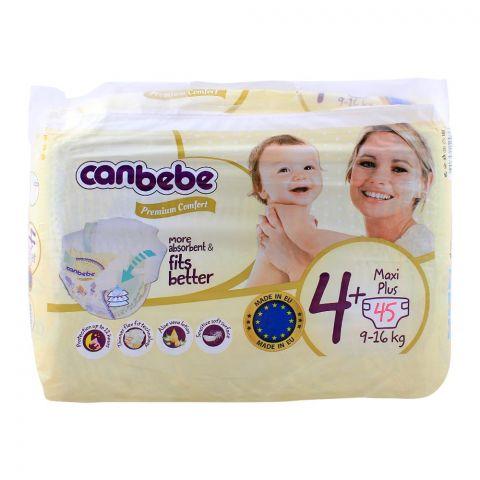 Canbebe Premium Comfort No. 4+, Maxi Plus 9-16 KG, 45-Pack