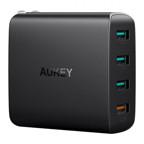 Aukey 4-Port USB Wall Charger With Quick Charge 3.0, Black, PA-T18