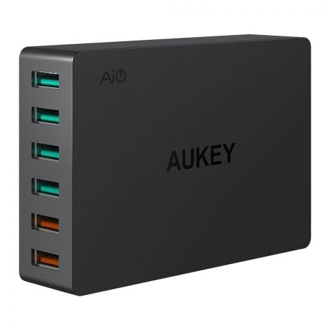 Aukey 6-Port USB Charging Station With Quick Charge 3.0, Black, PA-T11
