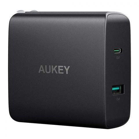 Aukey Amp USB-C Wall Charger, Black, PA-Y10