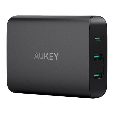 Aukey 3-Ports USB-C Charging Station With Power Delivery, Black, PA-Y12
