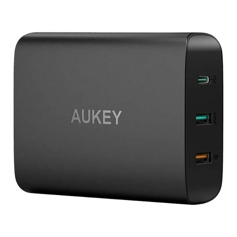 Aukey 3-Ports USB-C Charging Station With Power Delivery, Black, PA-Y13