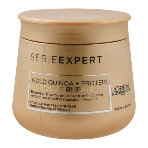 L'Oreal Professionnel Serie Expert Gold Quinoa + Protein Absolut Repair Hair Masque, 250ml