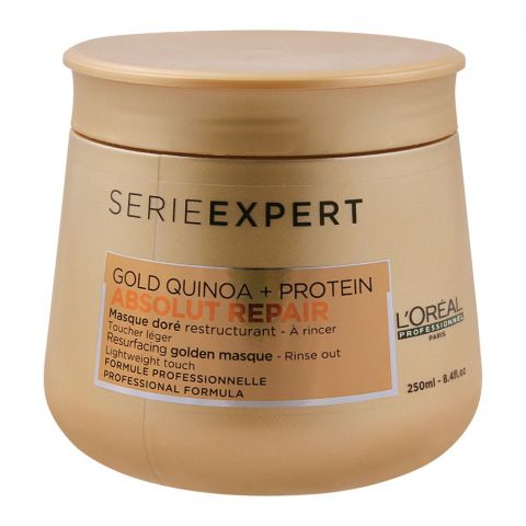 L'Oreal Professionnel Serie Expert Gold Quinoa + Protein Absolut Repair Golden Hair Masque, 250ml