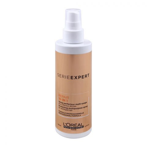 L'Oreal Professionnel Serie Expert Repair 10-In1 Perfecting Multipurpose Spary, For Damaged Hair, 190ml
