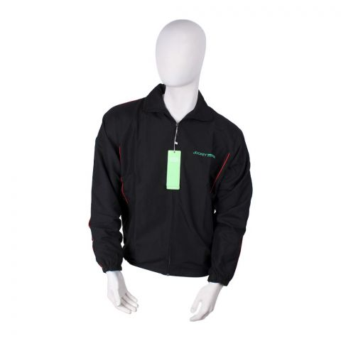 Jockey Sports Micro Fiber Jacket, Black, MH9AJ001