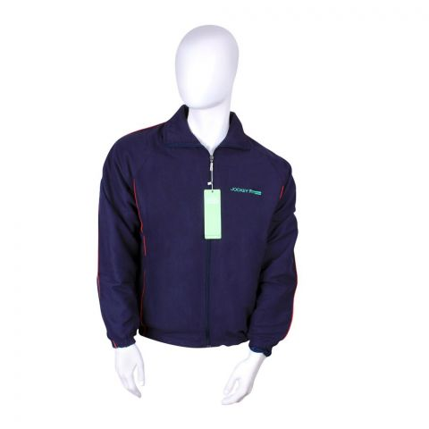 Jockey Sports Micro Fiber Jacket, Navy, MH9AJ001