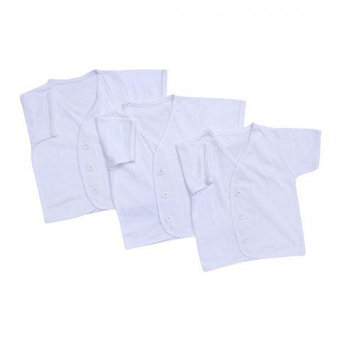 Angel's Kiss Short Sleaves Baby Vest, Large, White