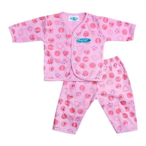 Angel's Kiss Baby Suit, Newborn, Pink
