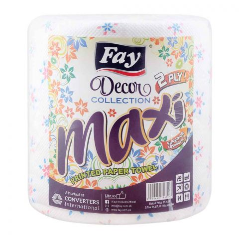 Fay Maxi Printed Kitchen Paper Towel Tissue, 2-Ply