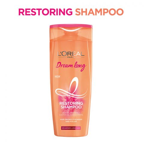 L'Oreal Paris Dream Long Restoring Shampoo, Weakened Long Hair, 175ml