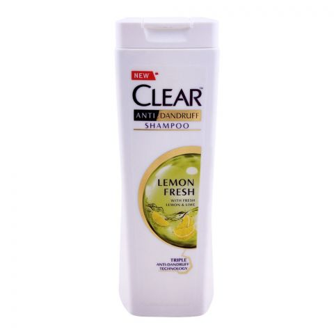 Clear Lemon Fresh Triple Anti-Dandruff Shampoo, 185ml