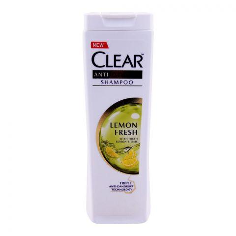 Clear Lemon Fresh Triple Anti-Dandruff Shampoo, 400ml