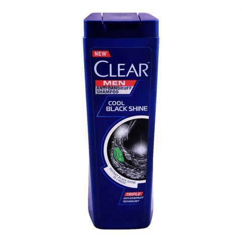 Clear Men Triple Anti-Dandruff Cool Black Shine Shampoo, 400ml