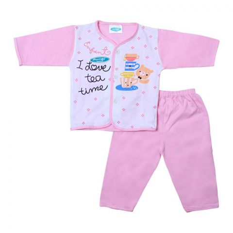 Angel's Kiss Baby Suit, Large, Pink