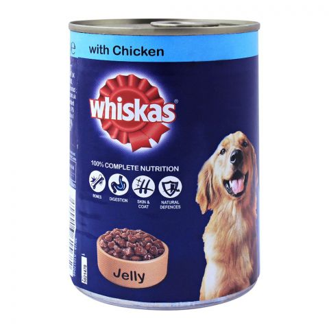 Whiskas With Chicken Jelly Dog Food, Tin, 400g