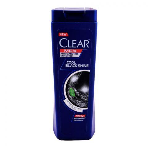 Clear Men Triple Anti-Dandruff Cool Black Shine Shampoo, 185ml