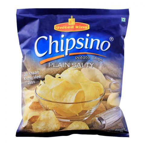 United King Chipsino Plain Salty Potato Chips, 100g