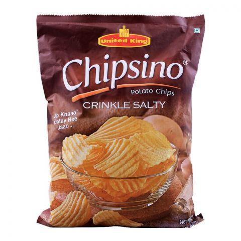 United King Chipsino Crinkle Salty Potato Chips, 200g